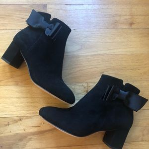 Kate Spade Langley Bow Booties Boots 6 EUC